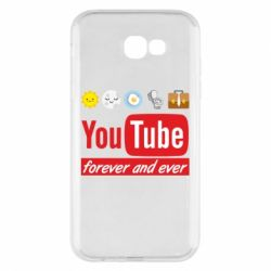 Чохол для Samsung A7 2017 Forever and ever emoji's life youtube