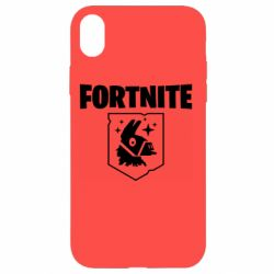 Чехол для iPhone XR Fortnite and llama