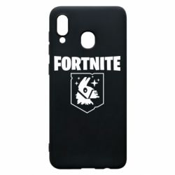 Чехол для Samsung A20 Fortnite and llama