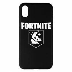 Чехол для iPhone X/Xs Fortnite and llama