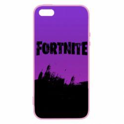 Купить Masha, Чехол для iPhone5/5S/SE Fortnite black logo, FatLine