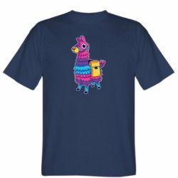 Мужская футболка Fortnite colored llama