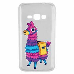 Чехол для Samsung J1 2016 Fortnite colored llama