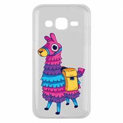 Чехол для Samsung J2 2015 Fortnite colored llama