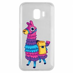 Чехол для Samsung J2 2018 Fortnite colored llama