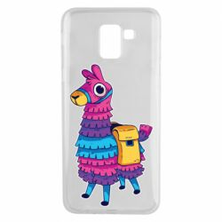 Чехол для Samsung J6 Fortnite colored llama