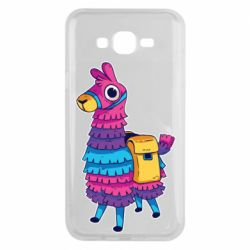 Чехол для Samsung J7 2015 Fortnite colored llama