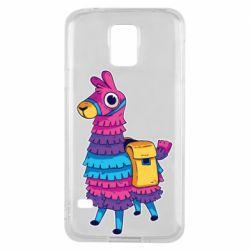 Чехол для Samsung S5 Fortnite colored llama