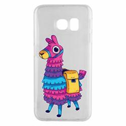 Чехол для Samsung S6 EDGE Fortnite colored llama
