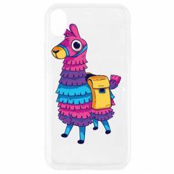 Чехол для iPhone XR Fortnite colored llama