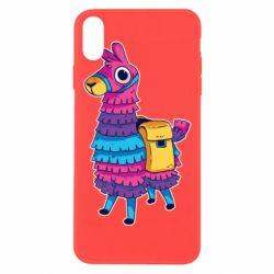 Чехол для iPhone Xs Max Fortnite colored llama
