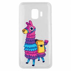 Чехол для Samsung J2 Core Fortnite colored llama