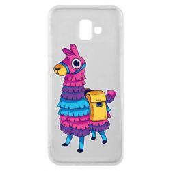 Чехол для Samsung J6 Plus 2018 Fortnite colored llama