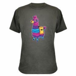 Камуфляжная футболка Fortnite colored llama
