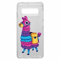 Чехол для Samsung S10+ Fortnite colored llama