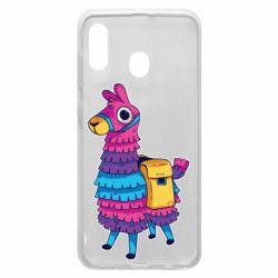 Чехол для Samsung A20 Fortnite colored llama