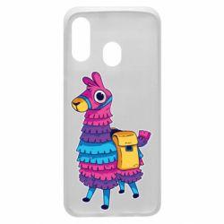 Чехол для Samsung A40 Fortnite colored llama