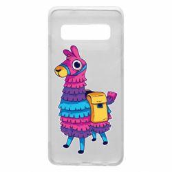 Чехол для Samsung S10 Fortnite colored llama
