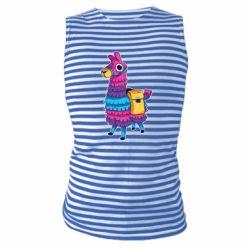 Майка-тельняшка Fortnite colored llama