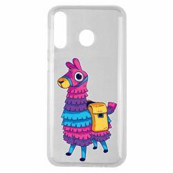 Чехол для Samsung M30 Fortnite colored llama