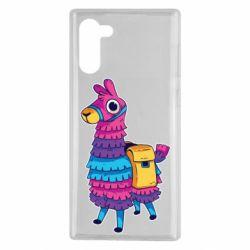 Чехол для Samsung Note 10 Fortnite colored llama