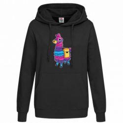 Женская толстовка Fortnite colored llama
