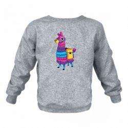 Детский реглан (свитшот) Fortnite colored llama
