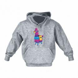 Детская толстовка Fortnite colored llama