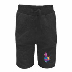 Детские шорты Fortnite colored llama
