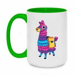 Кружка двухцветная 420ml Fortnite colored llama