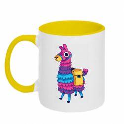 Кружка двухцветная 320ml Fortnite colored llama