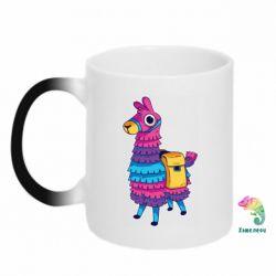 Кружка-хамелеон Fortnite colored llama