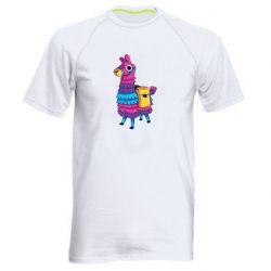 Мужская спортивная футболка Fortnite colored llama