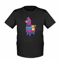 Детская футболка Fortnite colored llama