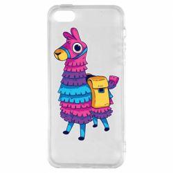Чехол для iPhone5/5S/SE Fortnite colored llama