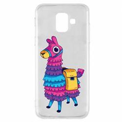 Чехол для Samsung A6 2018 Fortnite colored llama