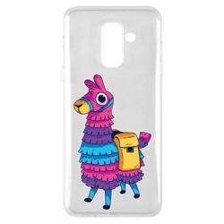 Чехол для Samsung A6+ 2018 Fortnite colored llama