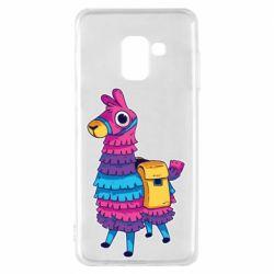 Чехол для Samsung A8 2018 Fortnite colored llama