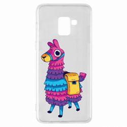 Чехол для Samsung A8+ 2018 Fortnite colored llama