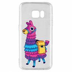 Чехол для Samsung S7 Fortnite colored llama