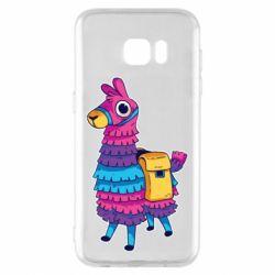 Чехол для Samsung S7 EDGE Fortnite colored llama