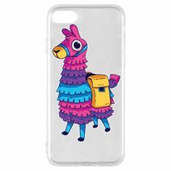 Чехол для iPhone 8 Fortnite colored llama