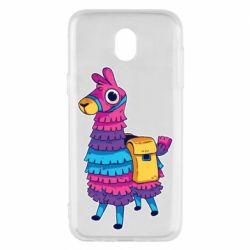 Чехол для Samsung J5 2017 Fortnite colored llama