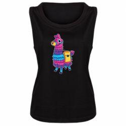 Женская майка Fortnite colored llama