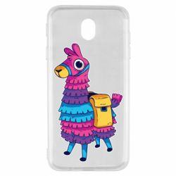 Чехол для Samsung J7 2017 Fortnite colored llama
