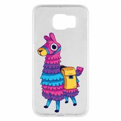 Чехол для Samsung S6 Fortnite colored llama