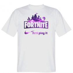Чоловіча футболка Fortnite just play it