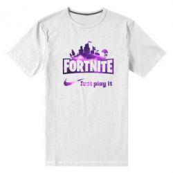 Чоловіча стрейчева футболка Fortnite just play it