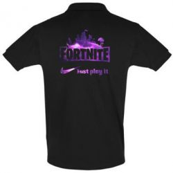 Футболка Поло Fortnite just play it