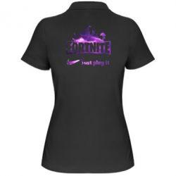 Жіноча футболка поло Fortnite just play it